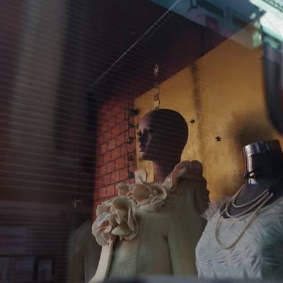 ショールームのマネキンとトルソーの作例写真