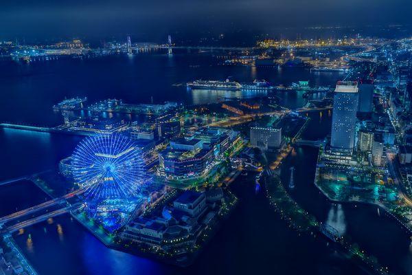 みなとみらいの夜景を一望の作例写真