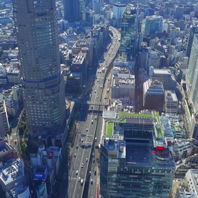高層ビルと都市景観の作例写真