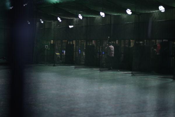 深夜のバッティングセンターの作例写真