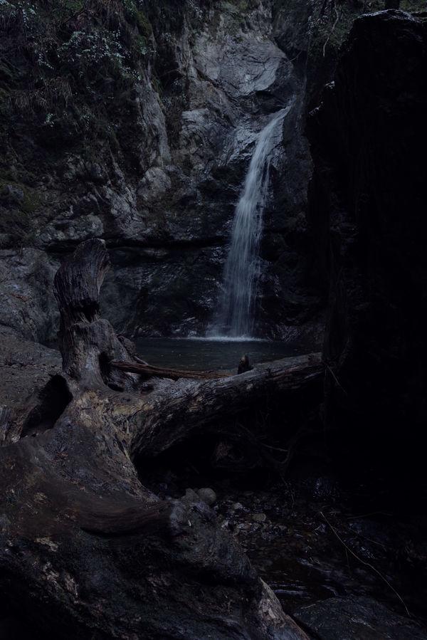 春雨に濡れる七代の滝の作例写真