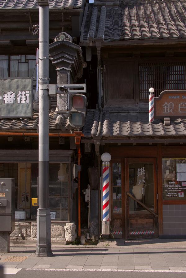 川越一番街の古い街並みの一角の作例写真