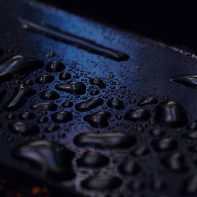 金属と水滴の作例写真