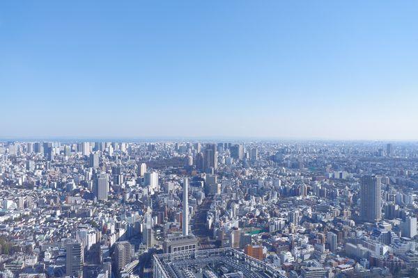 SHIBUYA SKY(渋谷スカイ)展望施設から品川方面の景観の作例写真